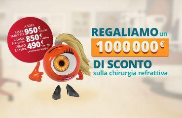 Regaliamo un milione di euro di sconto sulla chirurgia refrattiva